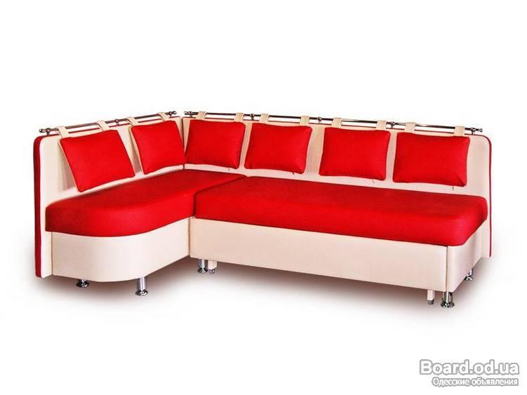 Диван красный на кухню со спальным местом