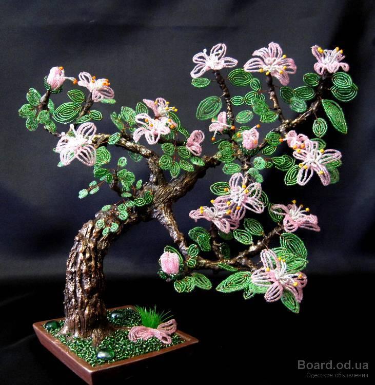 Дерево из бисера -Азалия.