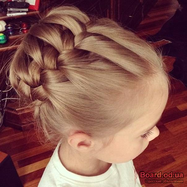 прически с косами для детей видео