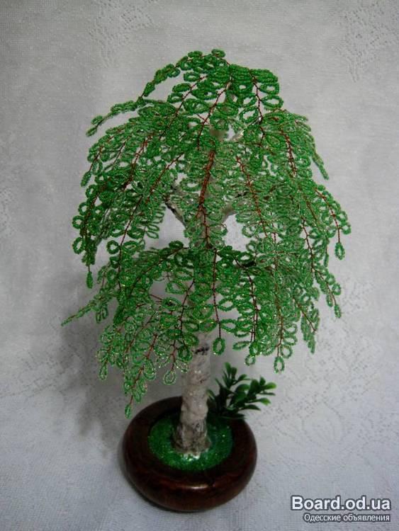 дерево из бисера береза.