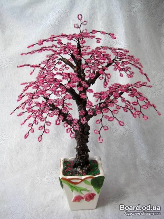 Код изделия 0088.  Декоративные деревья из бисера.