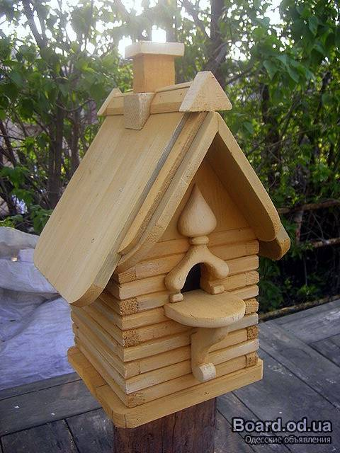 Скворечники из дерева для птиц своими руками
