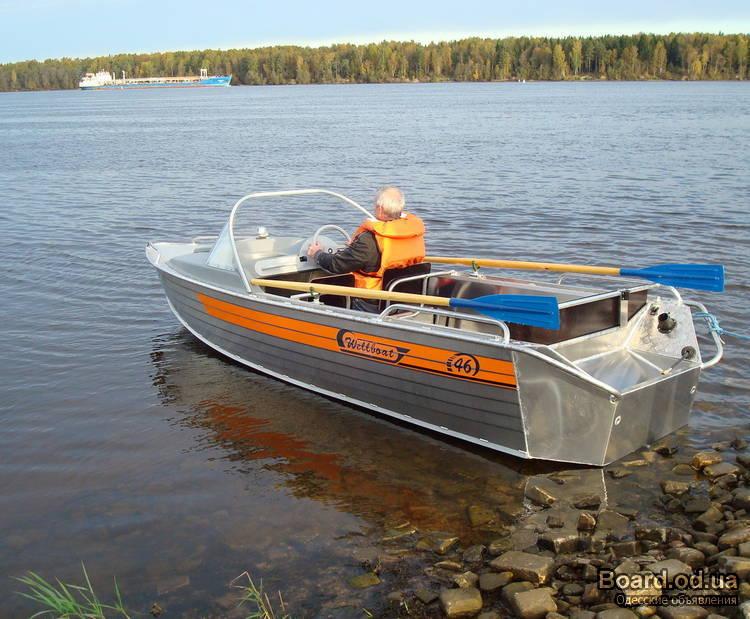Лодка моторная вельбот 46м