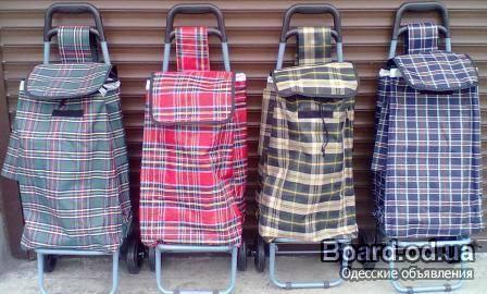 Сумка хозяйственная на колесах.  Для города и дачи (рюкзак) Особенность сумки- тележки состоит в откидной ручке...