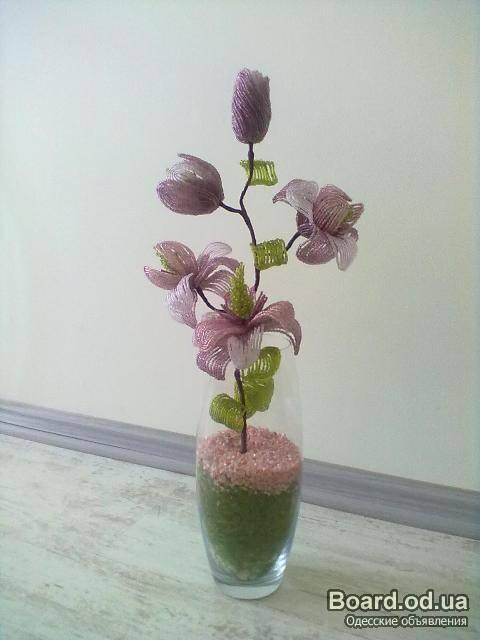 """Лаванда  """"Прованс """".  Букеты из цветов.  Изделия из бисера на заказ.  Цветы, букеты, композиции, деревья."""