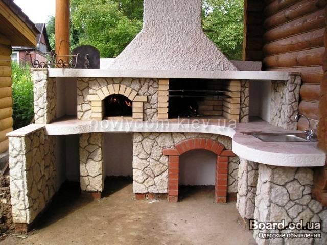 строительство барбекю, строительство гриль, Камины, мангалы