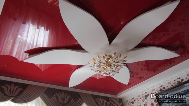 Цветок из гипсокартона на потолке своими руками видео