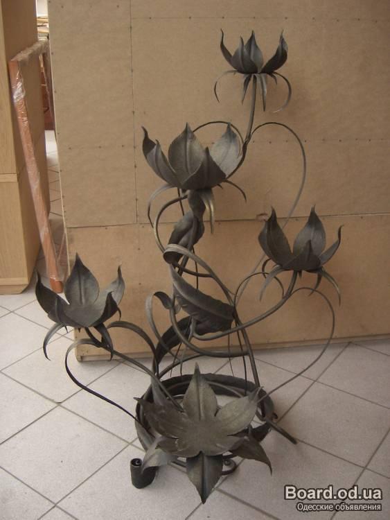 фото работ - кованая подставка для цветов