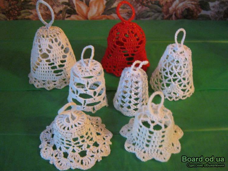 Рождественский колокольчик вязание крючком 3