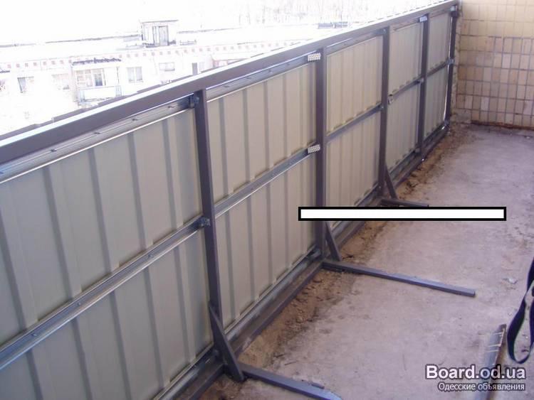 Обшивка балкона профнастилом своими руками видео