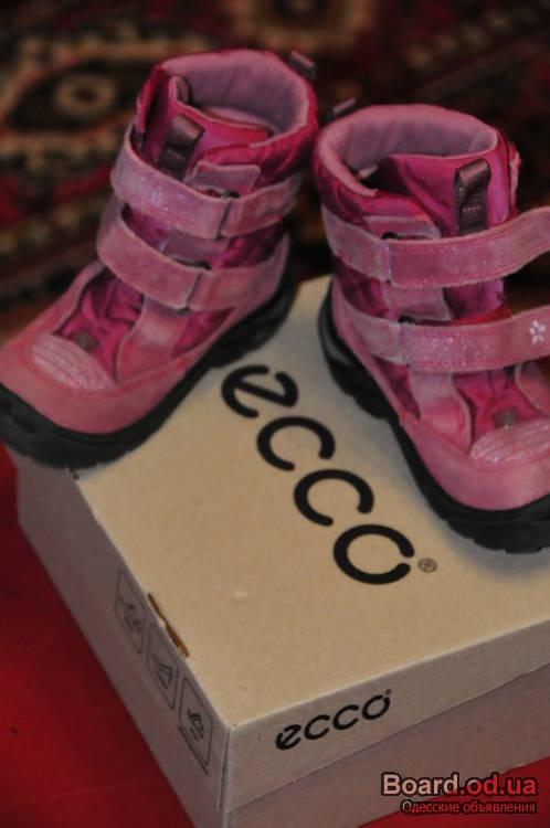 "ботинки зимние девичьи  ""Ecco """