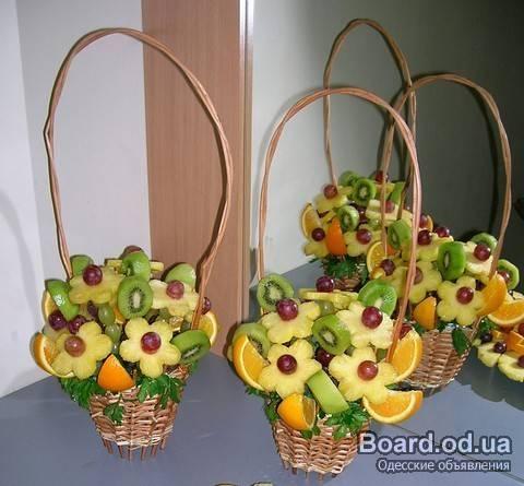 Букеты из фруктов своими руками для начинающих фото