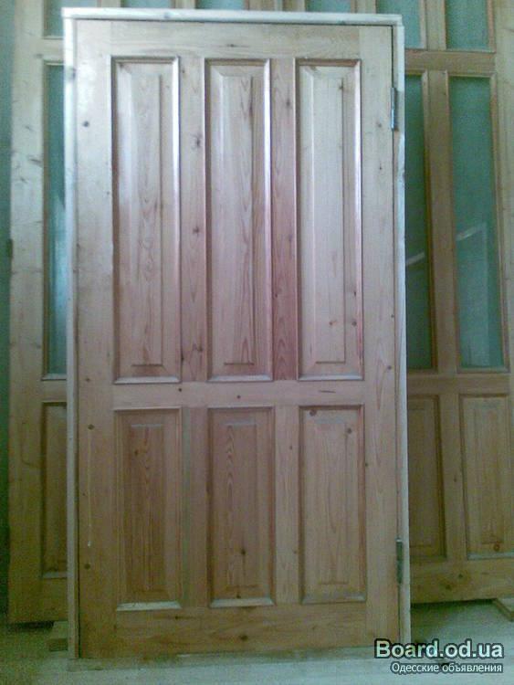 двери входные филенчатые сосна