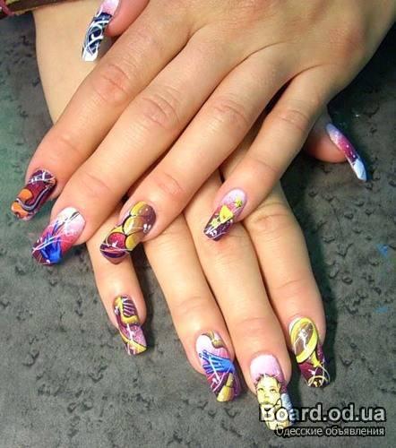 Художественная роспись ногтей.Выполняем рисунки на ногтях любой