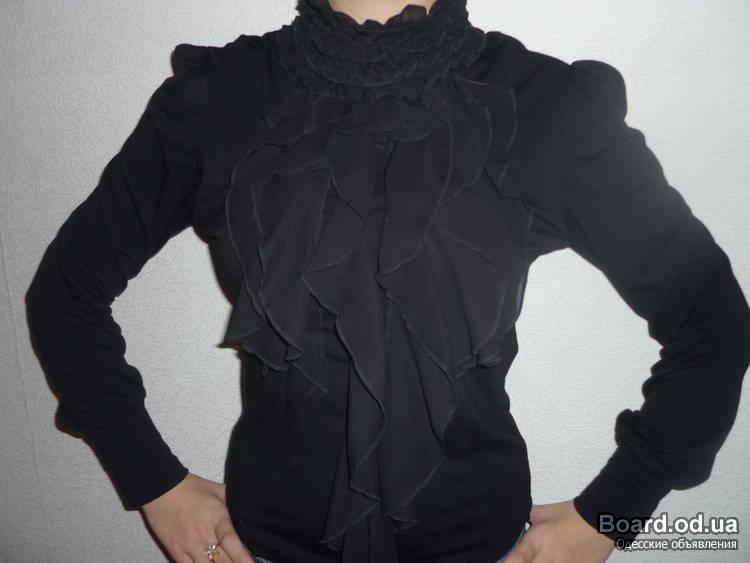 Купить Блузку Из Шифона С Жабо