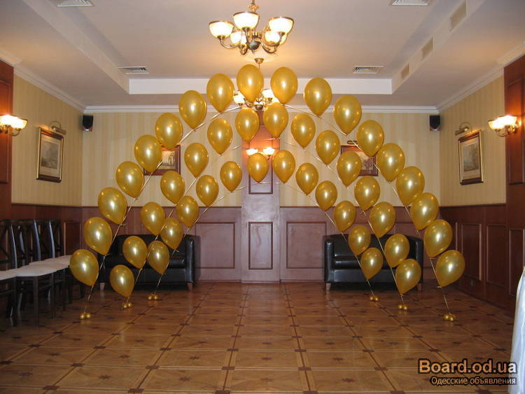 Украшение зала на свадьбу в Люберцах, свадебное оформление - 2 оформителя