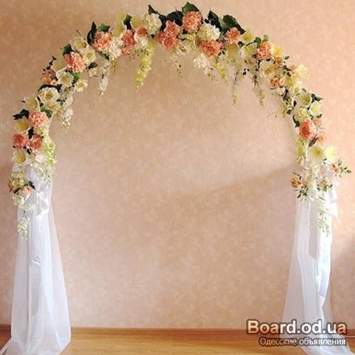 Арка из цветов на свадьбу своими руками
