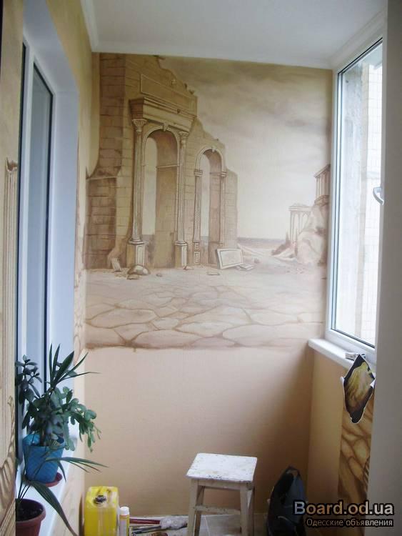 Художественная декоративная отделка стен фото 7