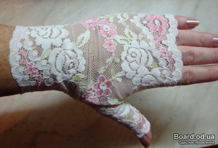 Перчатки из гипюра своими руками 2