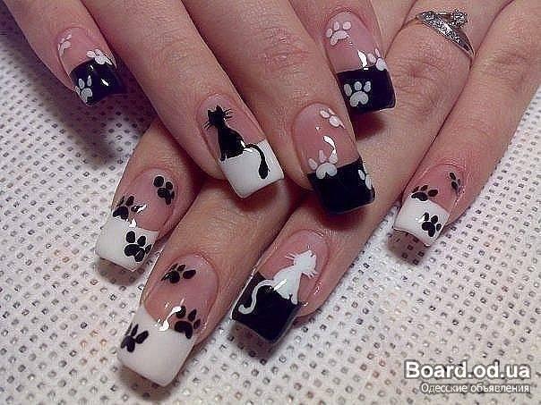 Рисунки на ногти своими руками фото