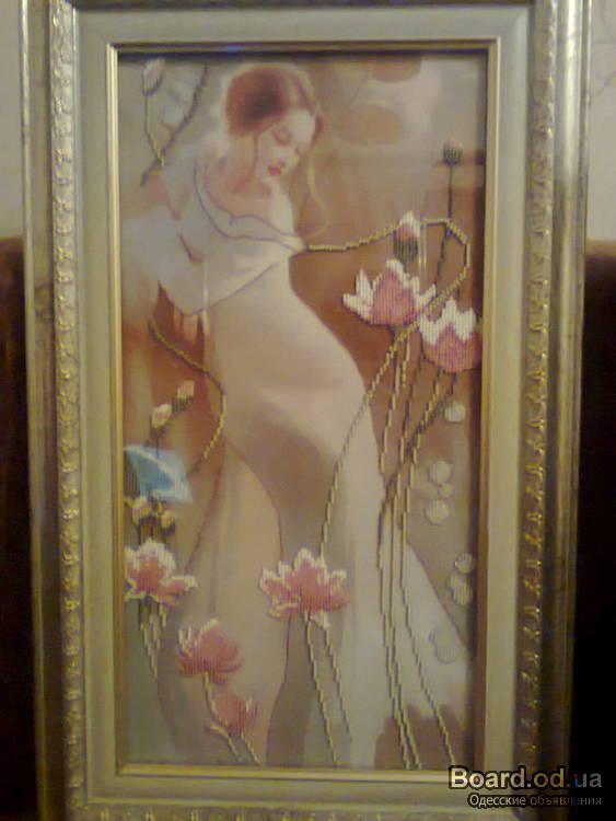 Продам вышивку из бисера картины иконы.