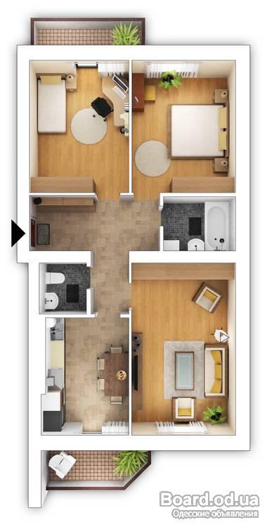 Квартиры 97 серии дизайн 56