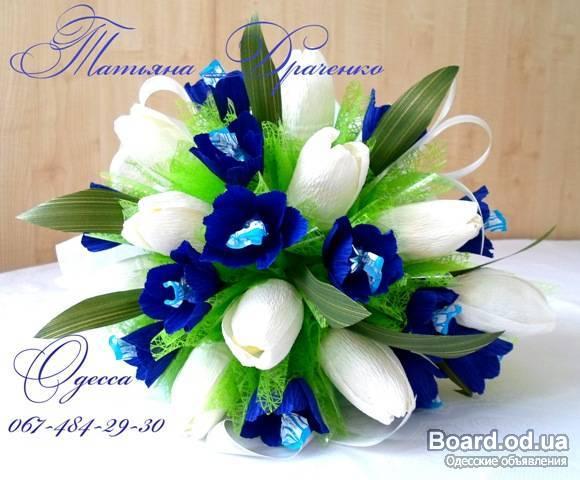Букеты из конфет своими руками пошаговое тюльпаны