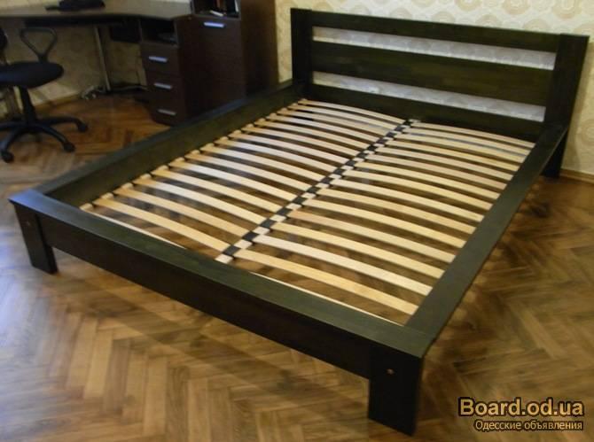 Двуспальная деревянная кровать своими руками