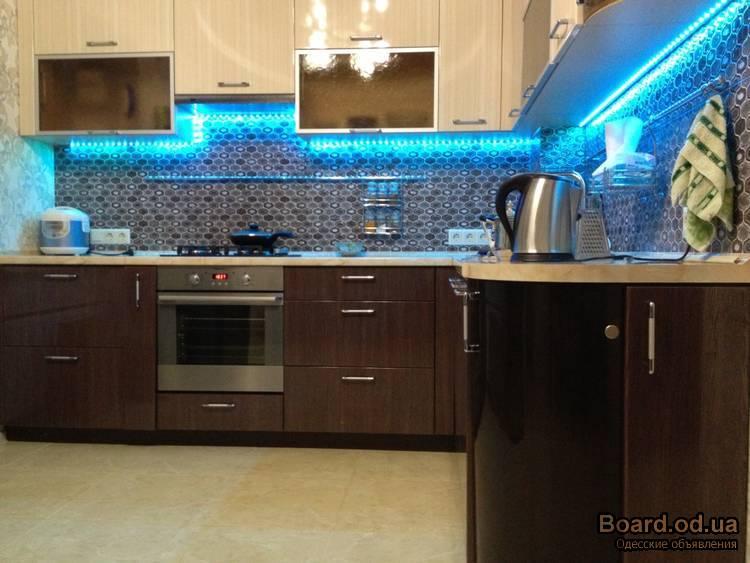 Диодная подсветка для кухни своими руками фото
