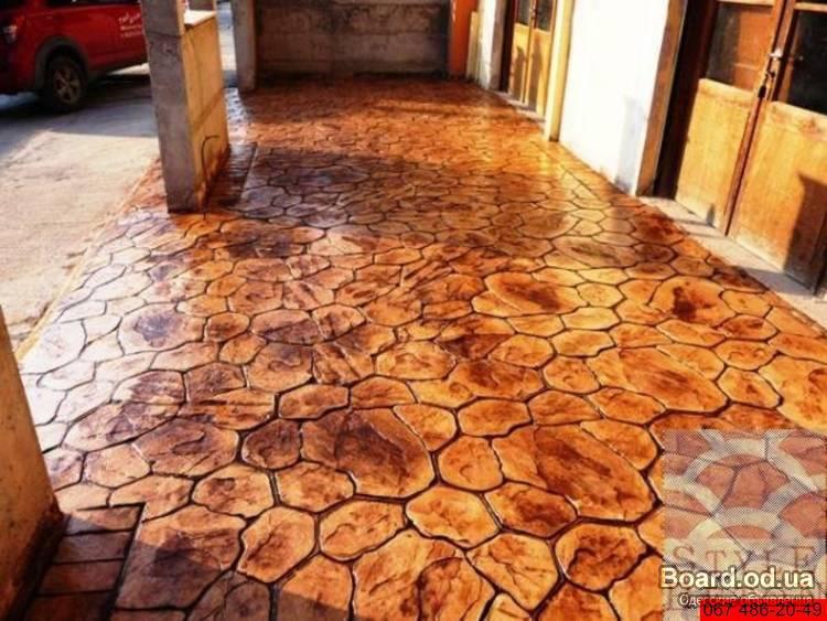 Печатного бетона своими руками форма 710