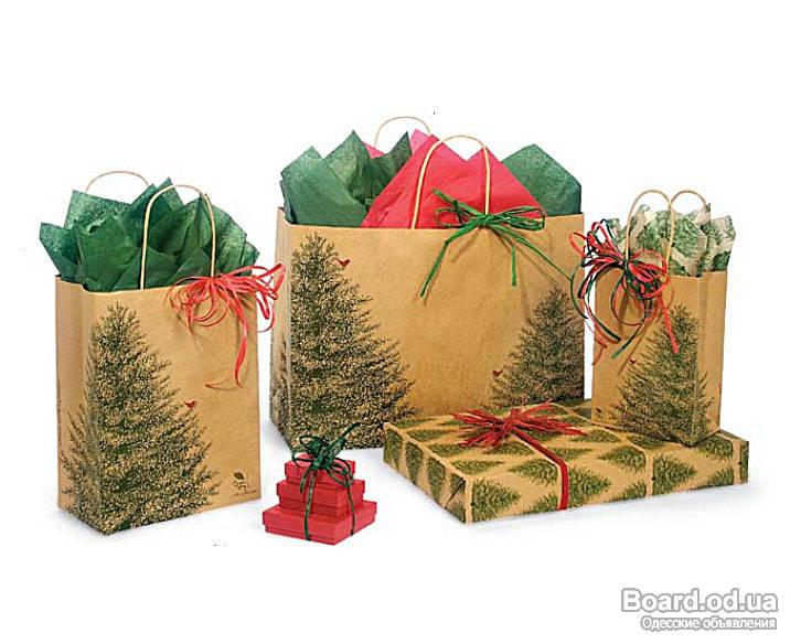 Описание: Упаковка подарков на Новый год.