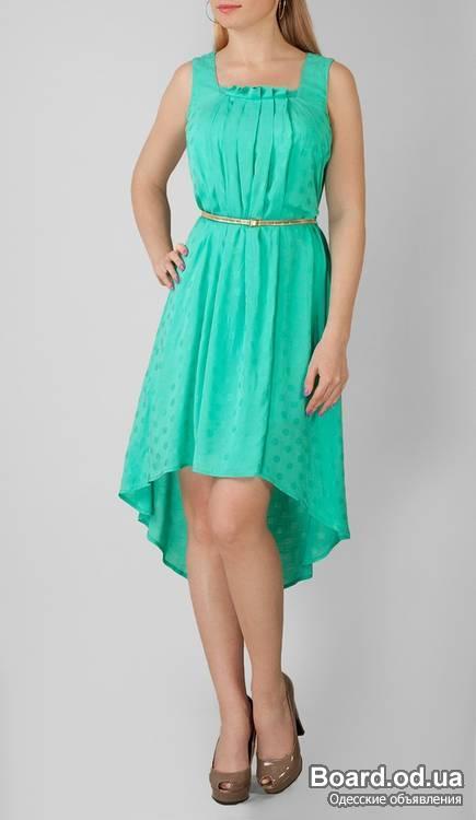 Платье короткое спереди длинное сзади летнее